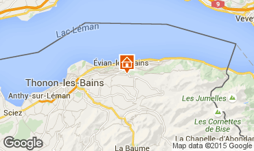 Kaart Evian les Bains Appartement 92987
