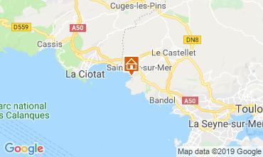 Kaart Saint Cyr sur Mer Appartement 92491