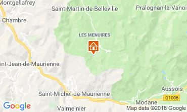 Kaart Les Menuires Studio 1628