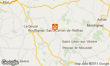 Kaart Les Eyzies de Tayac Huis 12399