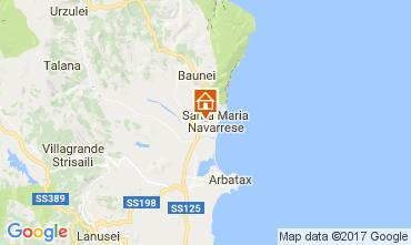 Kaart Santa Maria Navarrese Villa 110022