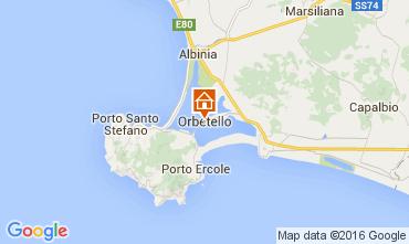 Kaart Monte Argentario Appartement 89887