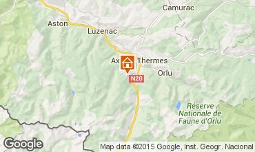Kaart Ax Les Thermes Chalet 67769