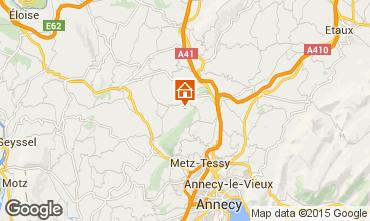 Kaart Annecy Vakantiehuis 58013