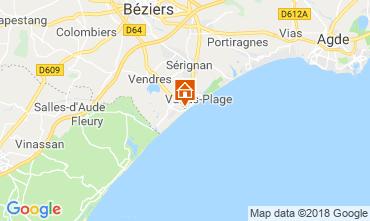 Kaart Valras-Plage (strand) Villa 117077