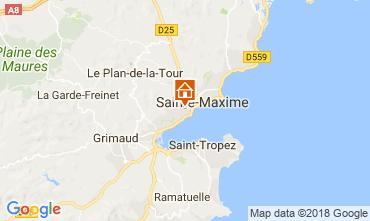 Kaart Sainte Maxime Villa 114176