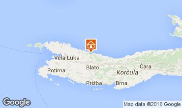 Kaart Prigradica Huis 43628