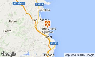 Kaart San Teodoro Appartement 80905