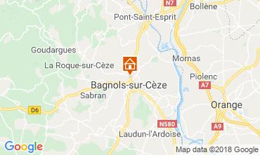Kaart Bagnols sur Cèze Vakantiehuis 116366