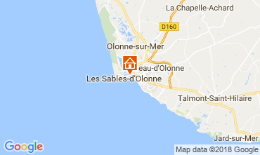 Kaart Les  Sables d'Olonne Appartement 114771