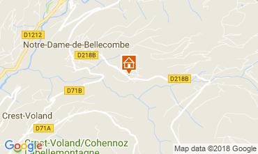 Kaart Notre Dame de Bellecombe Chalet 113667