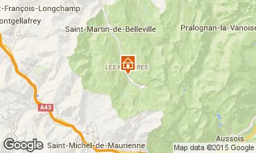 Kaart Les Menuires Chalet 101541