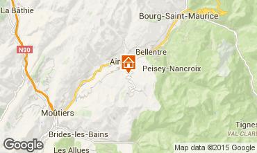 Kaart La Plagne Vakantiehuis 19942