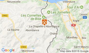 Kaart La Chapelle d'Abondance Appartement 111731