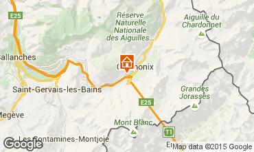 Kaart Chamonix Mont-Blanc Appartement 32184