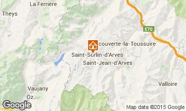 Kaart Saint Sorlin d'Arves Studio 2690