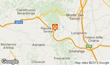 Kaart Rapolano Terme Appartement 69682