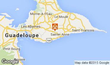 Kaart Sainte Anne(Guadeloupe) Vakantiehuis 60117