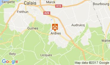 Kaart Calais Vakantiehuis 111466