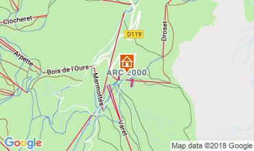 Kaart Les Arcs Appartement 173