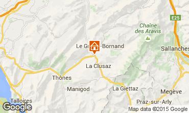 Kaart La Clusaz Chalet 854