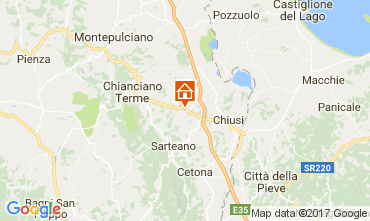 Kaart Chianciano Terme Villa 111227