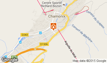 Kaart Chamonix Mont-Blanc Appartement 92446