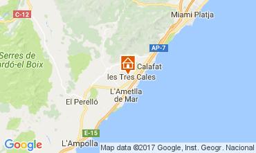 Kaart La Ametlla de Mar Villa 110101