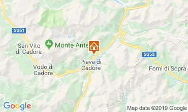 Kaart Cortina d'Ampezzo Appartement 26458