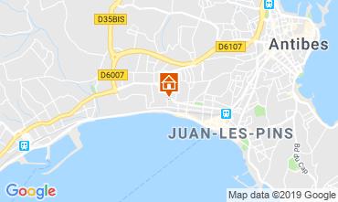 Kaart Juan les Pins Appartement 86704
