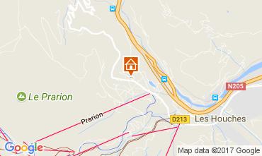 Kaart Chamonix Mont-Blanc Chalet 50316