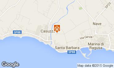 Kaart Marina di Ragusa Appartement 35318