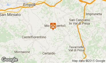 Kaart Montespertoli Appartement 74504