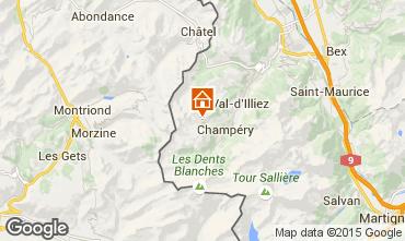 Kaart Les Crosets Chalet 14794