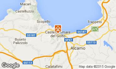 Kaart Castellammare del Golfo Appartement 69495