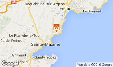 Kaart Les Issambres Appartement 102486