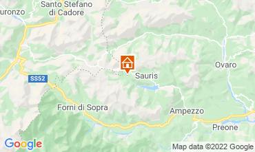 Kaart Forni di Sopra Chalet 71068