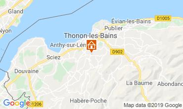Kaart Thonon Les Bains Appartement 113619