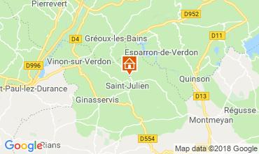 Kaart Gréoux Les Bains Huis 93624