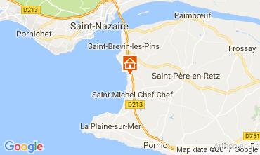 Kaart Saint Brevin les Pins Stacaravan 112559