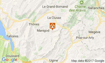 Kaart Manigod-Croix Fry/L'étale-Merdassier Appartement 108269