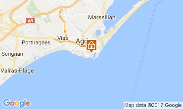 Kaart Cap d'Agde Appartement 6186