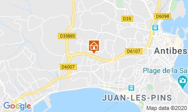 Kaart Juan les Pins Appartement 32363