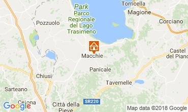 Kaart Castiglione del Lago Appartement 108079