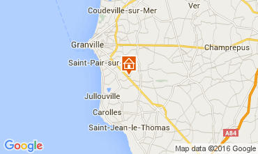 Kaart Granville Vakantiehuis 103621