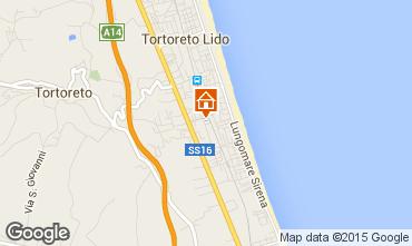 Kaart Tortoreto Appartement 42623