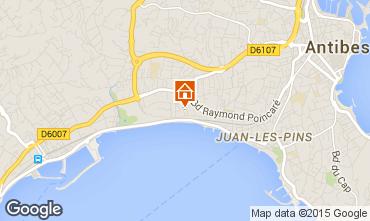 Kaart Juan les Pins Appartement 82884