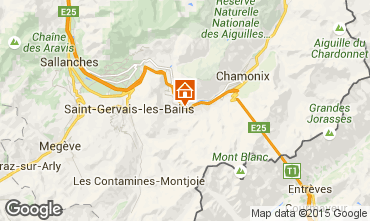 Kaart Chamonix Mont-Blanc Appartement 22897
