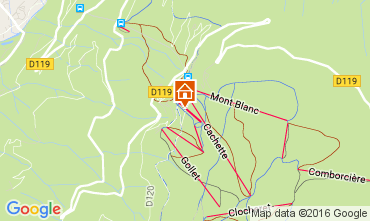 Kaart Les Arcs Chalet 89274
