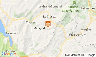 Kaart Manigod-Croix Fry/L'étale-Merdassier Appartement 111851